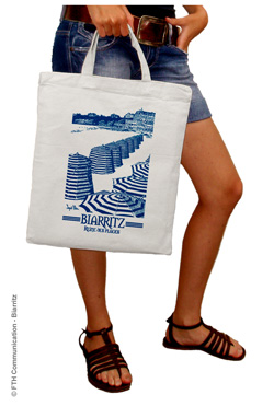 Sac Coton Shopping Boutique Biarritz