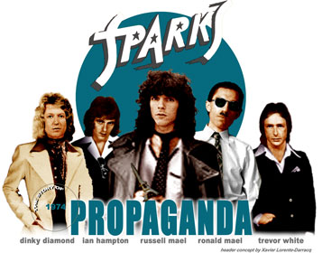 Ian Hampton bass player on Sparks Propaganda and Indiscreet Lps