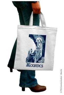 Sac Coton Souvenir Lourdes Madonna
