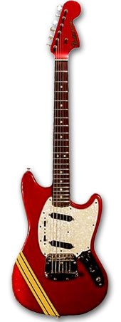 FENDER MUSTANG COMPETITION RED 1969 - TOMMY LORENTE