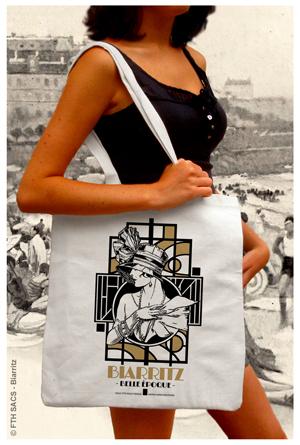 Tote Bag Biarritz Année Folles