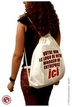 Sac a Dos Gym Bag Publicitaires Coton Naturel