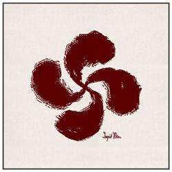 Sac Balade Croix Pays Basque Lauburu Rouge