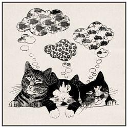 Sac en coton Mignons Chatons et Petits Chats