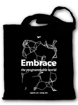 Tote bag noir Embrace Bioinformatique