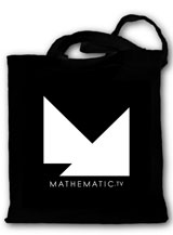 Sac noir tote bags Mathematic TV - Paris