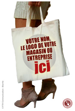 Sac Shopping Publicitaire Coton Naturel