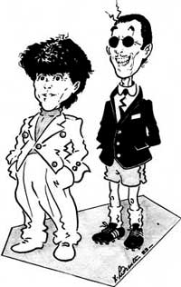 Sparks Official Fan Club - Ron & Russell Mael Cartoon comic-strip
