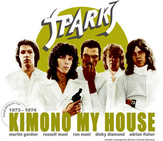 "Martin Gordon played bass on Sparks ""Kimono My House"" Lp"