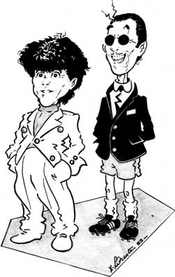 Sparks Russell Mael and Ron Mael Cartoon comic-strip