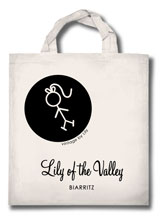 Tote Bag Lily of the Valley Biarritz